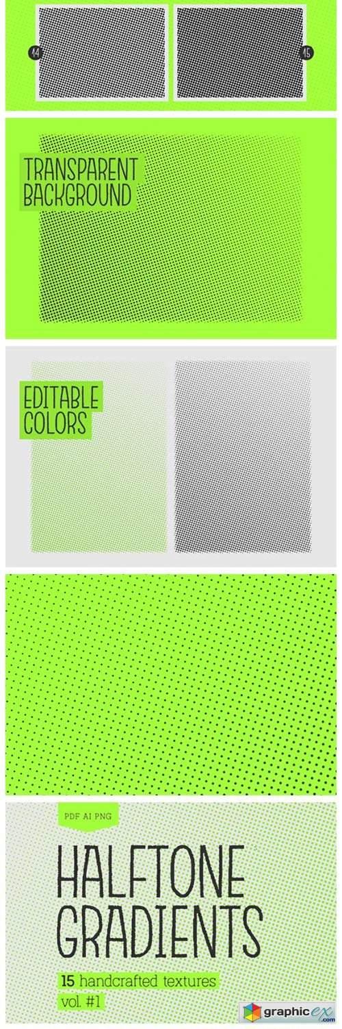 Halftone Gradients Texture Pack