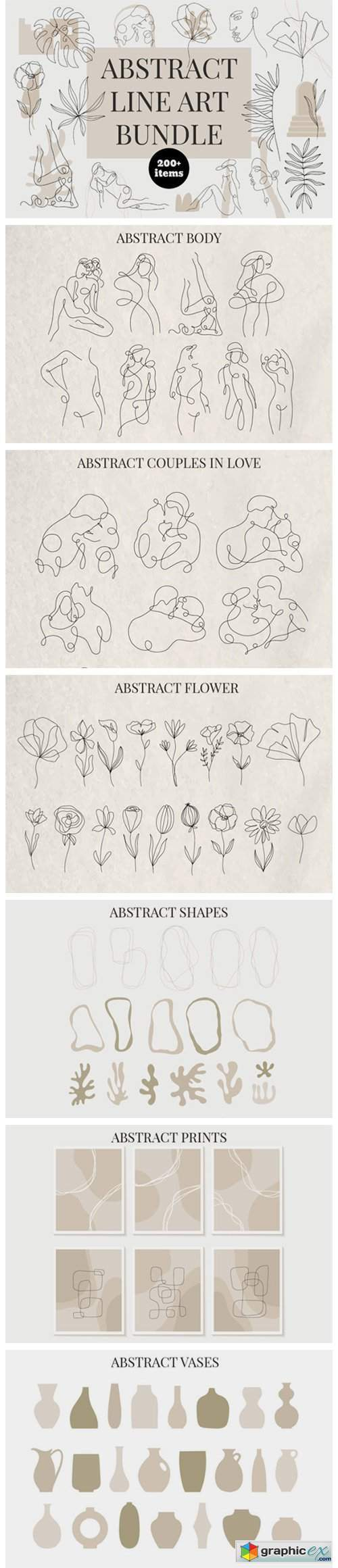 Abstract Line Art Bundle