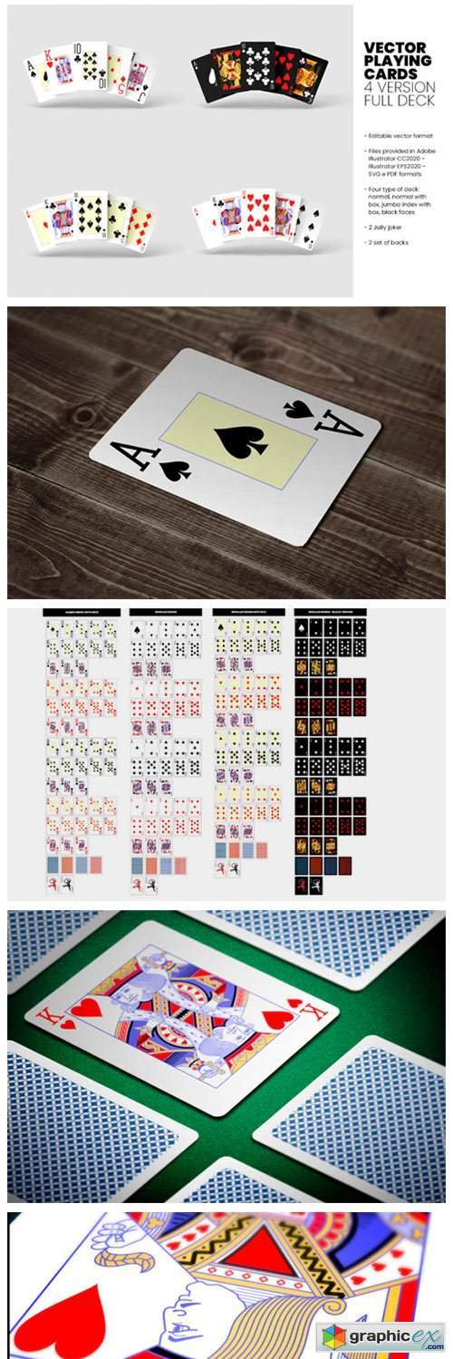 Vector Playing Cards - 4 Version - Full