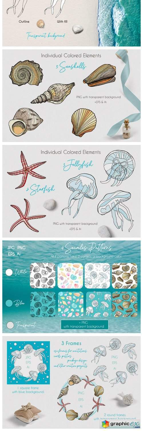 Underwater Vector Clipart Collection
