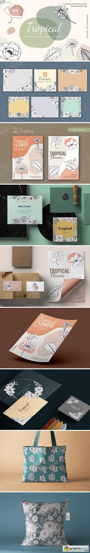 Tropical Vibes Line Art Unique