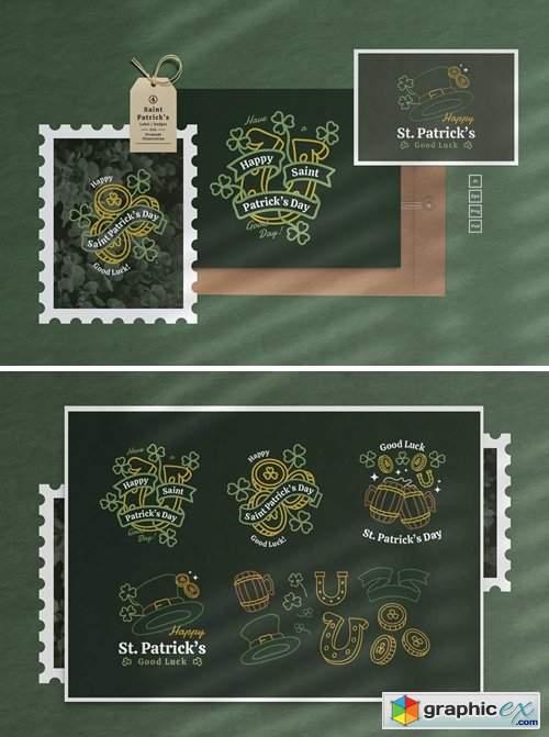 Saint Patrick Label Badges