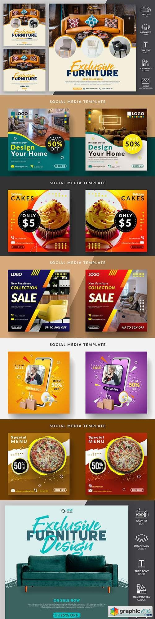 Social media message template to promote sale of item 8