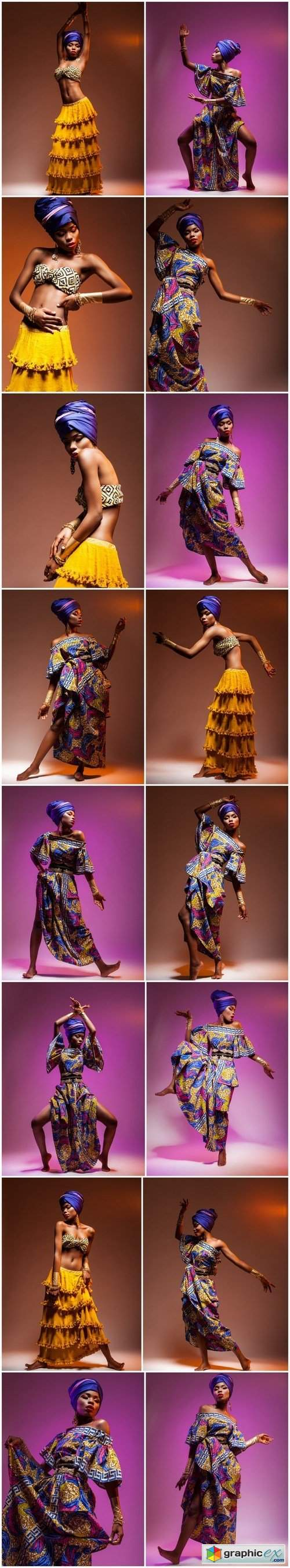 The beautiful African woman in a national suit 2 - 16xUHQ JPEG