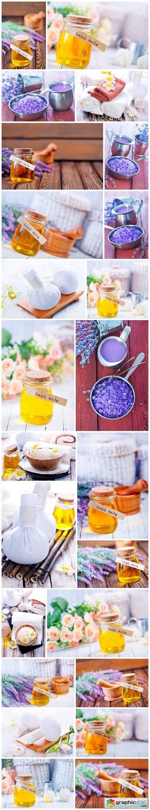 Sea salt, soap, candle and aroma oil 3 - 24xUHQ JPEG