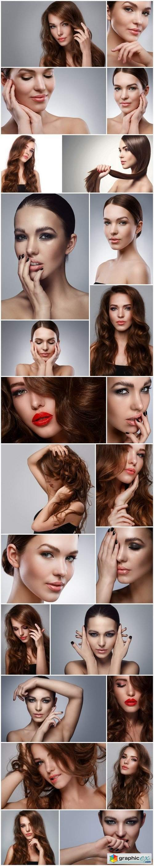 Beautiful woman with stylish MakeUp - 24xUHQ JPEG