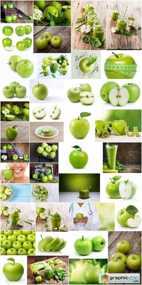 Fresh green apple - 41x HQ JPEG
