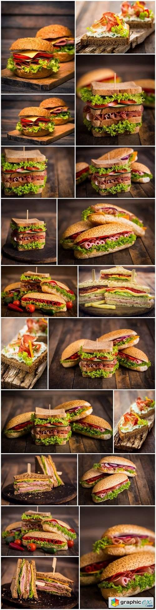 Tasty Sandwiches 10 - Set of 22xUHQ JPEG Professional Stock Images