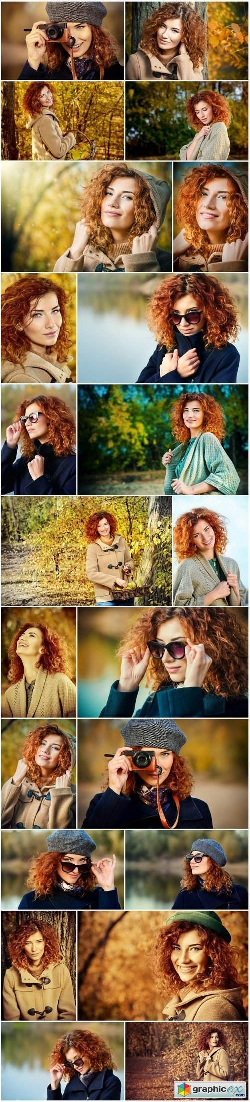 Romantic red haired girl - 22xUHQ JPEG