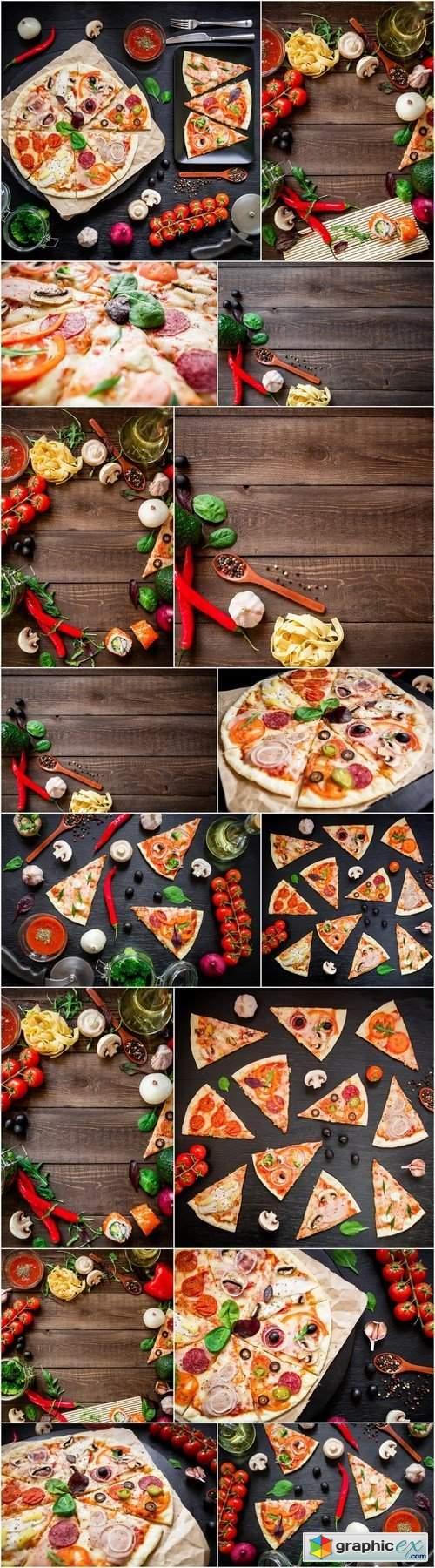 Tasty Italian Pizza - 16xHQ JPEG