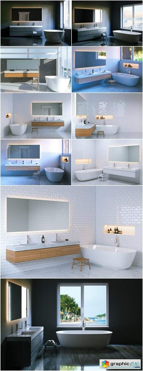 Design of the Bathroom - 10xHQ JPEG