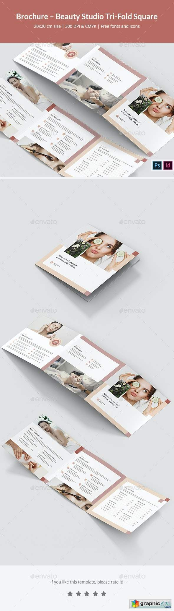 Brochure – Beauty Studio Tri-Fold Square