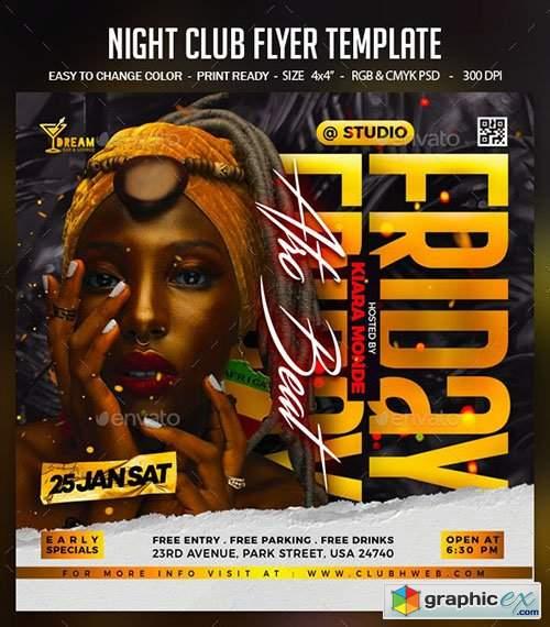 Night Club Flyer Template 30217144