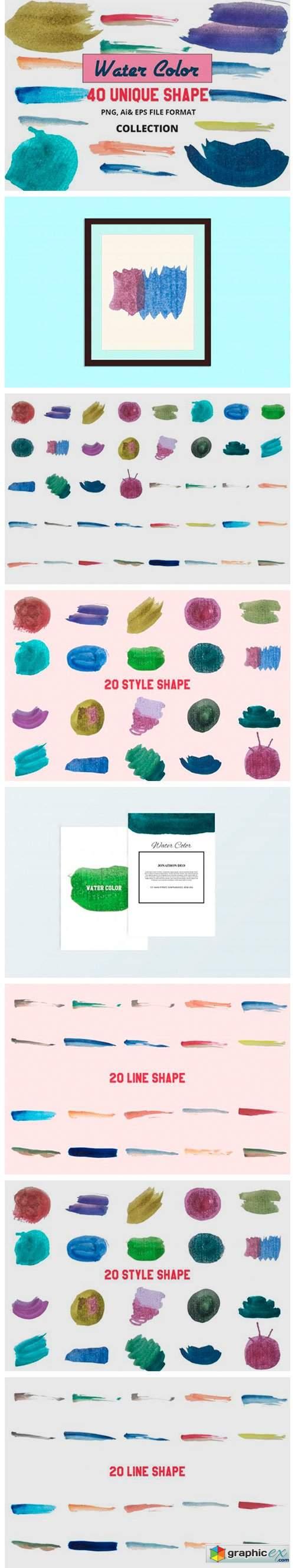 40 Vector Water Color