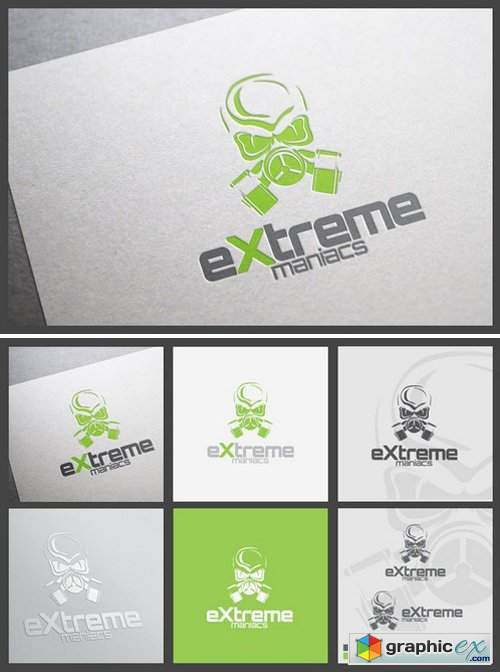 Extreme Maniacs Logo template