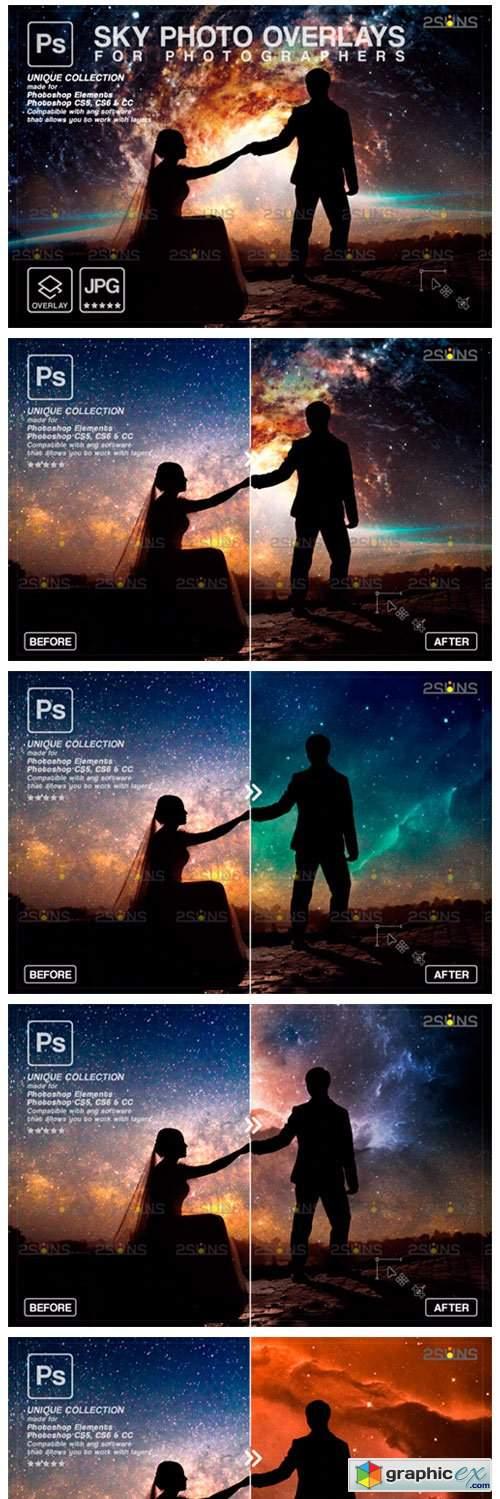 Night Sky Backdrop, Photoshop Overlay