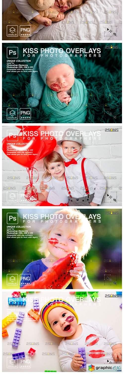 20 Kiss Overlays Valentines Day