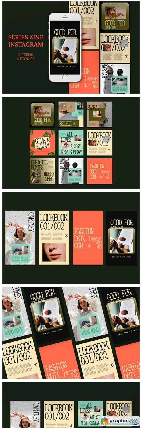 Series Zine Instagram Templates