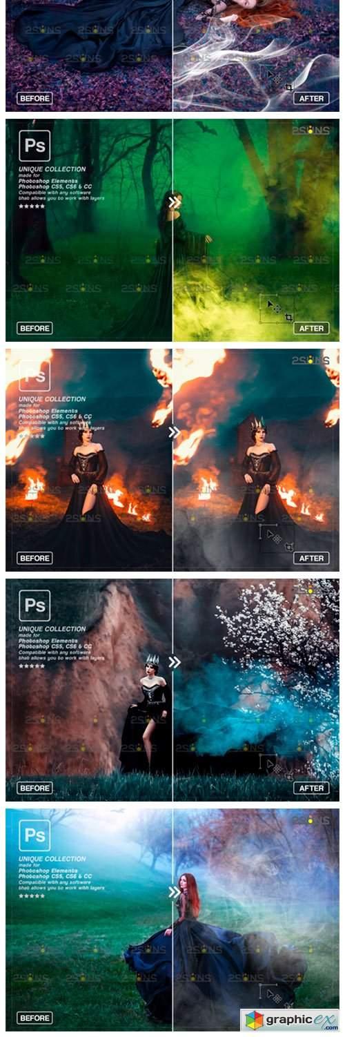 Photoshop Overlay: Fog Overlay, Smoke
