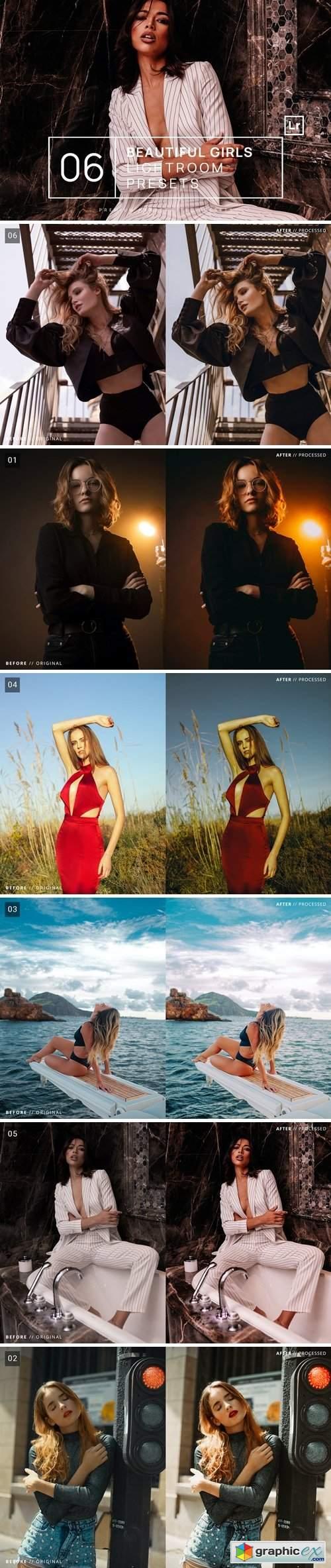 6 Beautiful Girls Lightroom Presets + Mobile