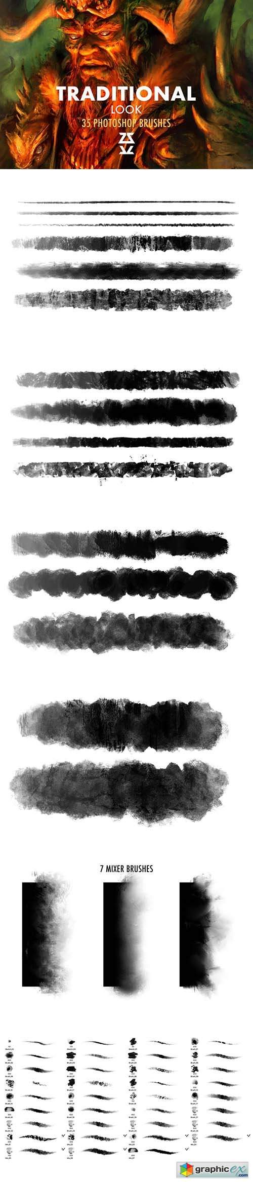 Traditional Look Brush Set 5907463