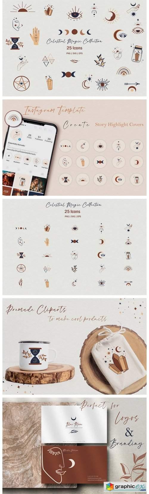 Celestial Magic Clipart Set