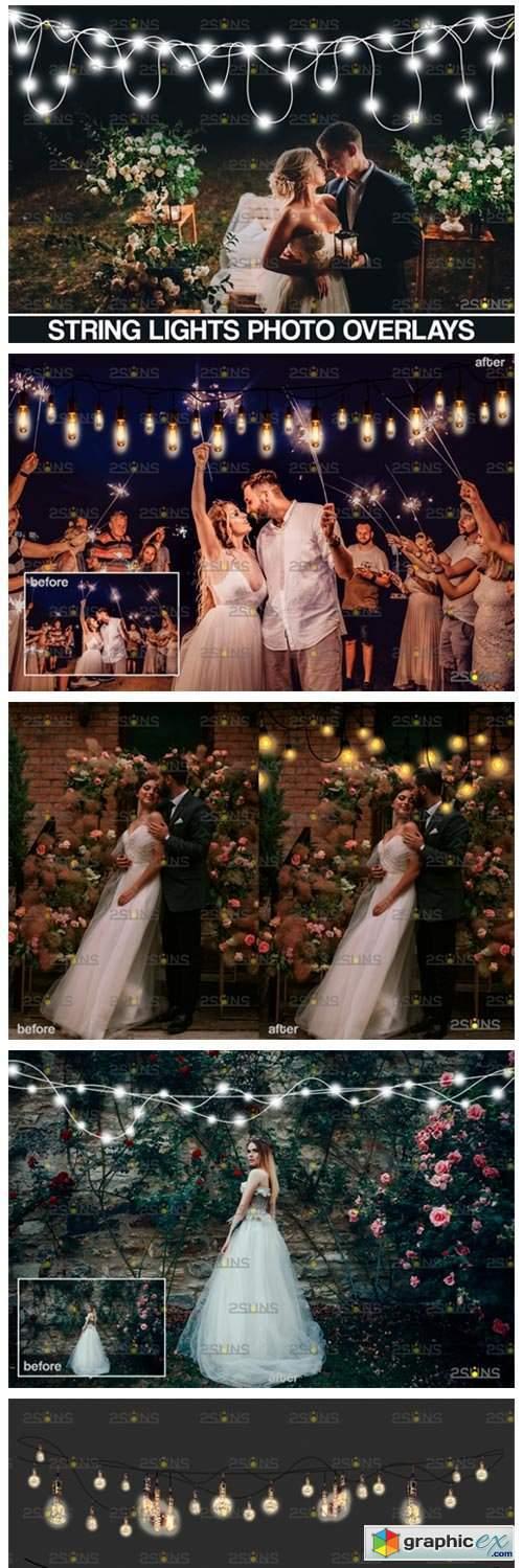 String Fairy Lights Overlay & Wedding