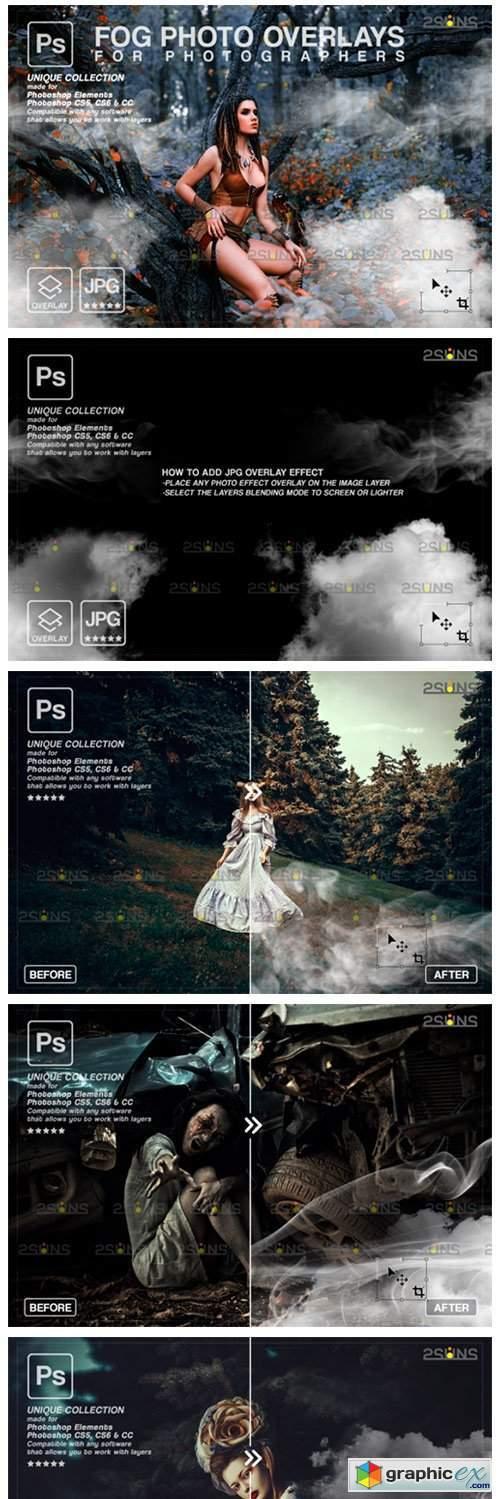 Photoshop Overlay: Fog Overlay, Smoke 8561231