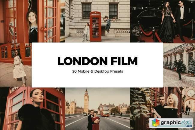 20 London Film Lightroom Presets