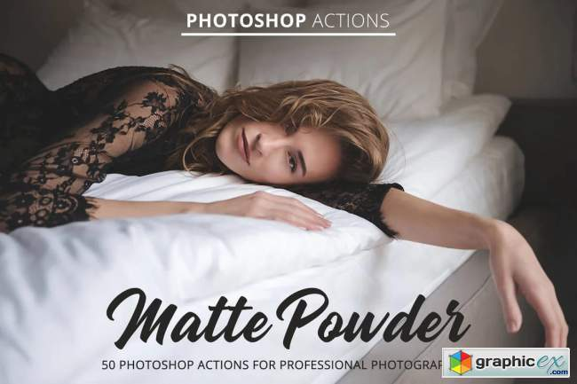Matte Powder Actions for Photoshop