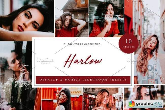 10 x Lightroom Presets, Harlow