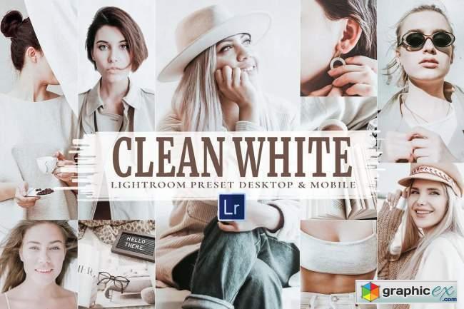 10 Clean White Mobile & Lightroom