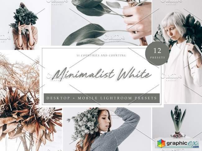 12 Lightroom Preset Minimalist White