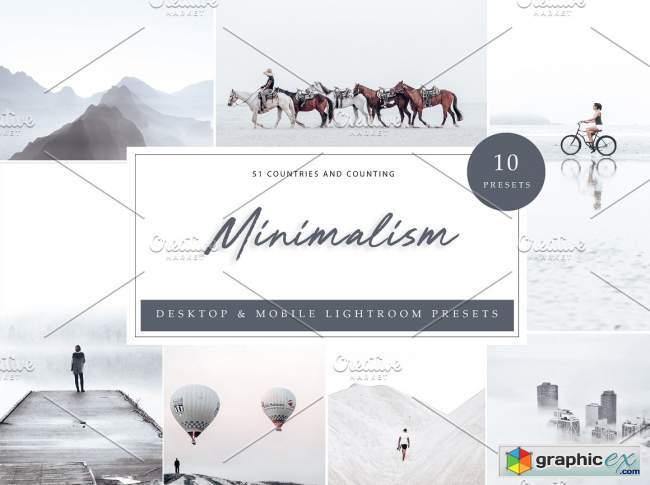 10 x Lightroom Presets, Minimalism