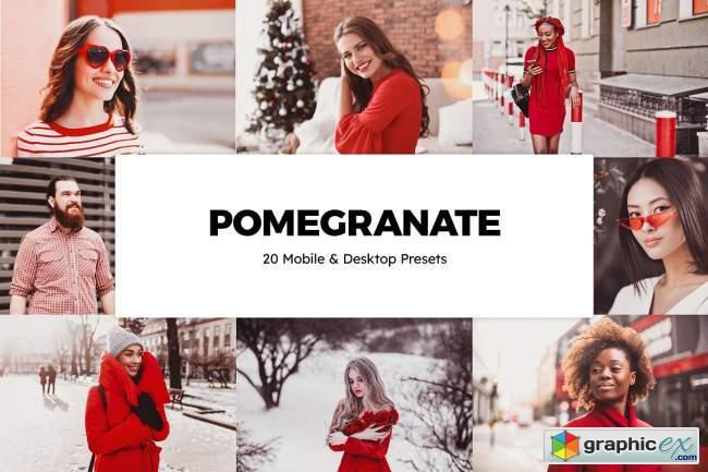 20 Pomegranate Lightroom Presets & LUTs