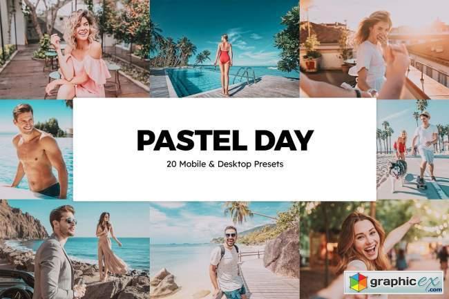 20 Pastel Day Lightroom Presets & LUTs