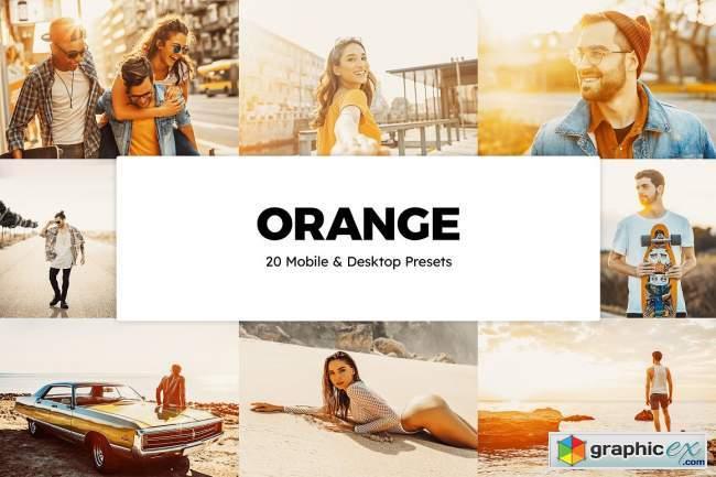 20 Orange Lightroom Presets & LUTs
