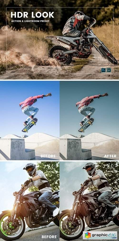 HDR Look Action & Lightroom Preset
