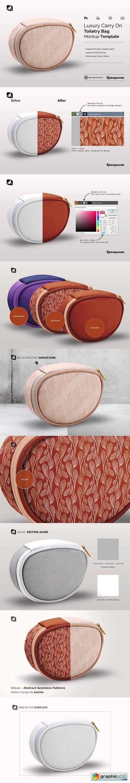 Luxury Carry On Toiletry Bag Mockup