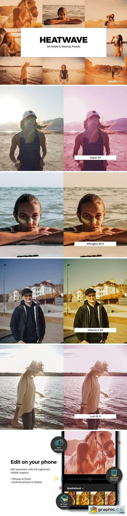 20 Heatwave Lightroom Presets & LUTs