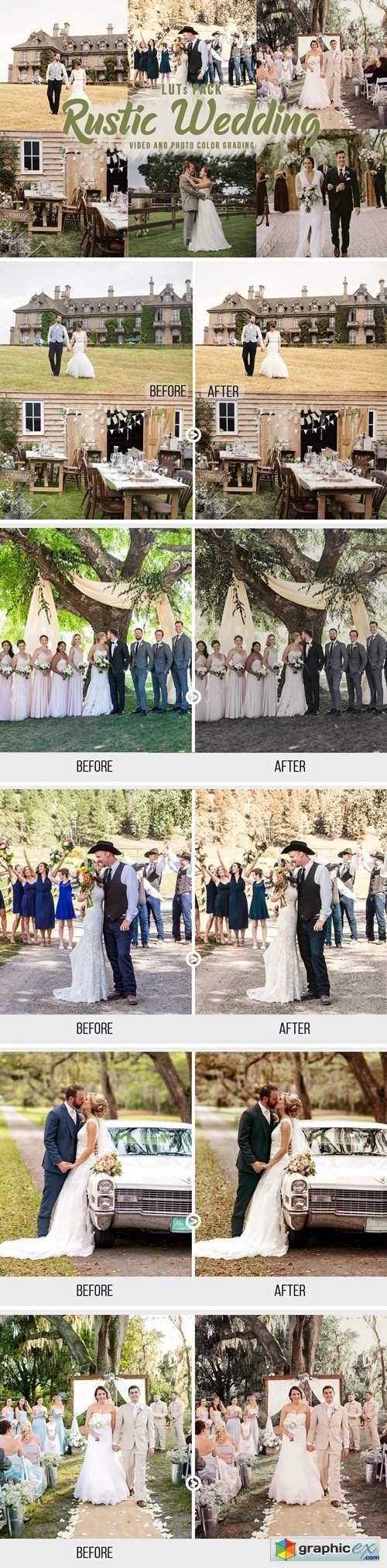 Rustic Wedding LUTs - Video Color Grading Filters