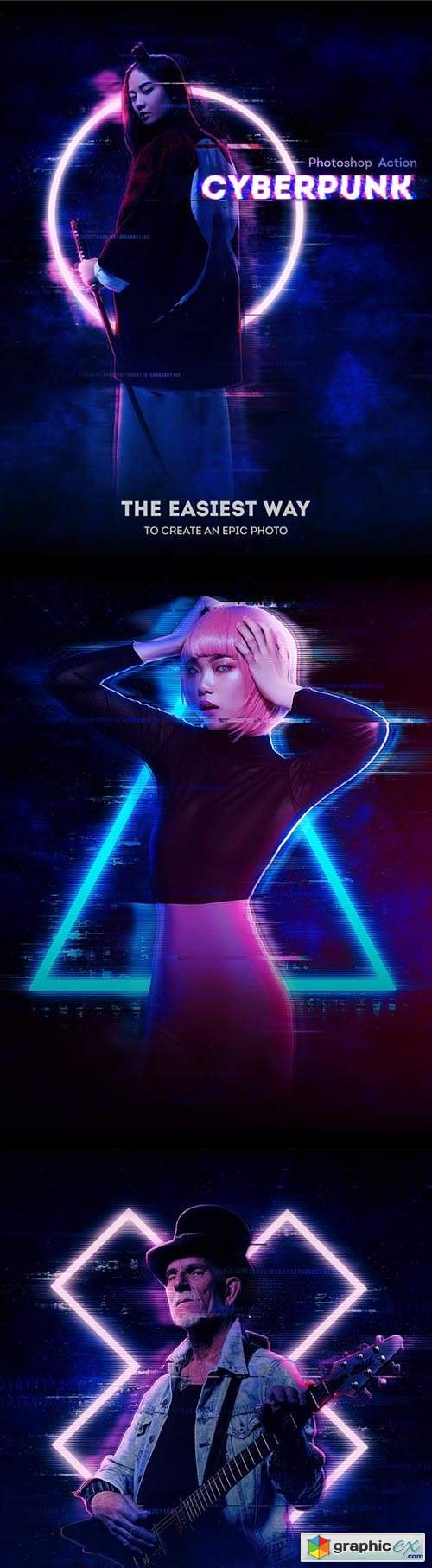 Cyberpunk Photoshop Action 31152285
