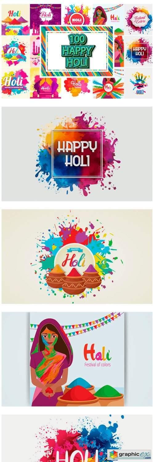 Happy Holi Festival Background Bundles