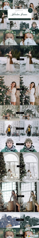 12 x Lightroom Presets, Winter Green
