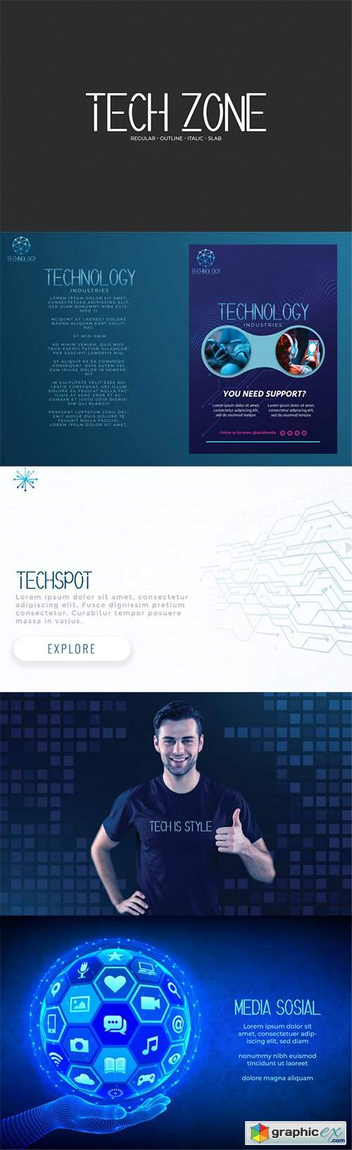 Tech Zone Font