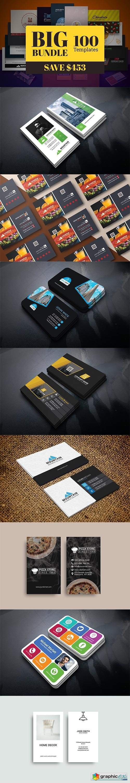 100 Business Card Template Bundle