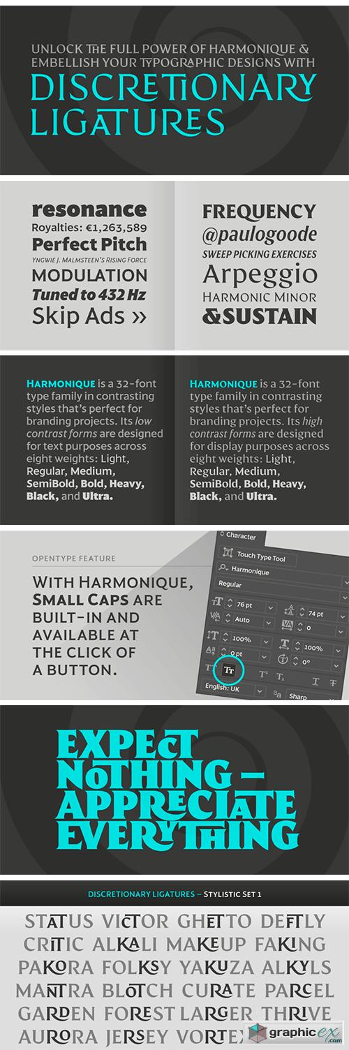 Harmonique Font Family