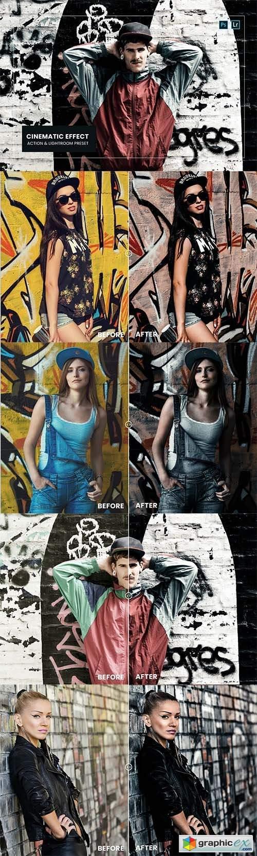 Cinematic Effect Action & Lightroom Preset