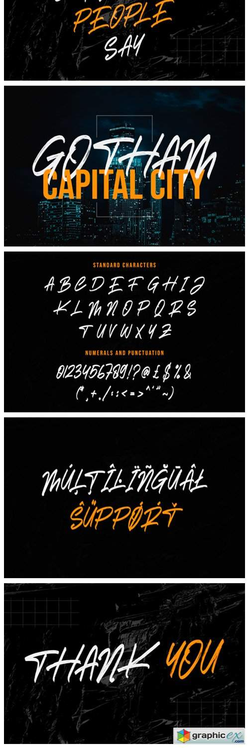 Darkness Brush Font