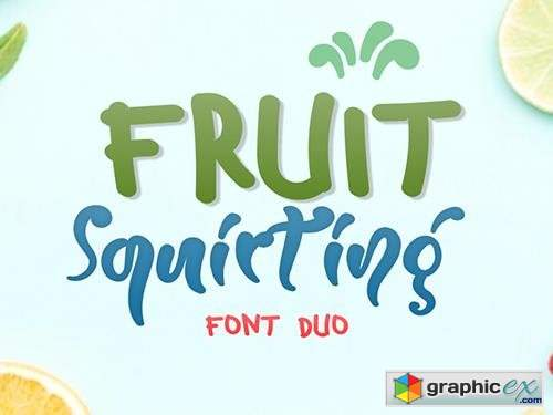 Fruit Squirting Font
